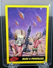 "2017 Topps Mars Attacks YELLOW Parallel Card #49 ""Mars II Powerless"" 087/199"