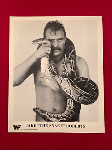 WWF WWE AEW Jake The Snake Roberts 1987 Titan Sports B&W Promo Photo Rare Sleeve