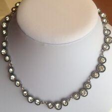 NEW J.Crew Crystal Vintage Sliver  Necklace
