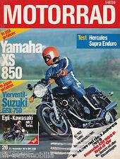 Motorrad 26 79 Hercules Supra Enduro Egli Kawasaki Mk2 Yamaha XS850 GSX750 1979