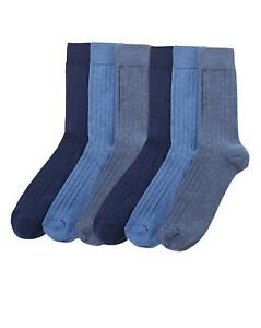 Jacamo 6 Pack men's no elastic anti odour socks EU 39-45 UK 6-11