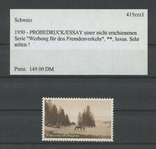 SWITZERLAND SPECIMEN 1950 ESSAY TRIAL TEST PRINT PROOF PRUEBA HORSE (m2094