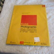 Vintage Kodak Photographic Paper Ektacolor 37 Rc F 8x10 Nos Sealed 25 Sheets