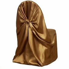 Dark Gold Universal Satin Chair Cover