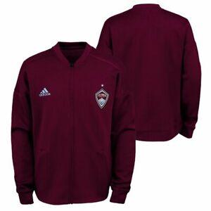 Adidas MLS Colorado Rapids Burgundy Anthem Jacket Burgundy/Sky Blue