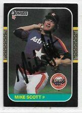 Mike Scott Signed 1987 Donruss Baseball Card #163 Houston Astros