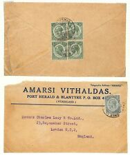 LA40 1927 Nyasaland London Port Herald Commercial Cover Manchester GB PTS