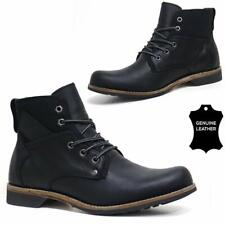 Mens Leather Boots New Formal Army Military Combat Ankle Work Boots Shoes Size