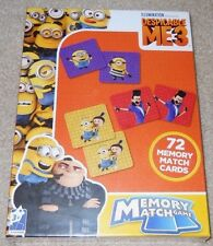 New in box Despicable Me 3 Memory Match Game 72 cards Minions Gru NIB