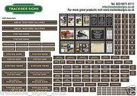 GWR Model Railway Station Sign Pack - OO Gauge 4mm - Die Cut Self-Adhesive