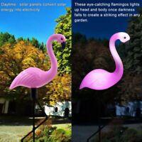 2St. LED Solar Flamingo Rasenlampe Solarleuchte Beleuchtung Wasserdichte Garten