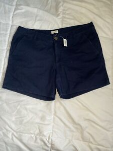 Aerie Navy Twill Short Size 12 NWT