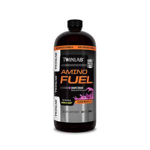 Twinlab AMINO FUEL 32 fl oz Liquid Aminos 23g Protein BUILD MUSCLE - BOTH FLAVOR