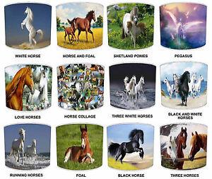 Horses Pony Equestrian Lampshades Ideal a Juego Con Caballos Cojines & Edredones