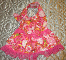 S female Dog Dress [pink flowers] Cotton hand crafted