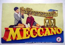 MECCANO - MANUEL INSTRUCTIONS BOITE 6A - 1958