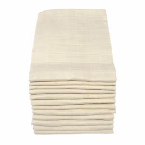 MuslinZ 12PK Baby Muslin Squares Cloths 70cms 100% Pure Soft Unbleached Cotton