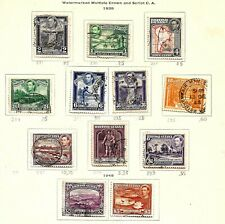 BRITISH GUIANA (720) 1938 SG308-319 PICTORIAL FULL SET OF 12 GOOD TO FINE USED