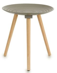 40cm Grey Round Coffee Table Side Table 3 Legged Living Room Grey Top
