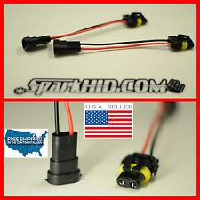 NeW 2x H11 TO 9006 9005 bulb model convert Pigtail HARNESS SOCKETs plug & play >