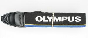 """Olympus OM-D 1 1/8"""" Black / Yellow / Blue / White Stitched Camera Neck Strap"""