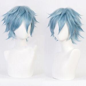 Anime Shigaraki Tomura Cosplay Wig Costume Play Wigs Costumes Gray-blue HairS_fr