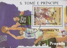 Sao Tome e Principe Block198 (compleet Kwestie) gestempeld 1989 Spelen Zomer ´92