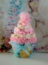 Shabby Cottage Fake Cupcake Photo Props, Marie Antoinette Decor, Pastel Ribbon