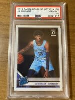 2019 Panini Donruss Optic #168 Ja Morant RC Rated Rookie PSA 10 GEM MINT INVEST