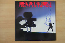 """Laurie Anderson AUTOGRAFI SIGNED LP-COVER """"Home of the Brave"""" vinile"""