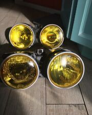 BMW E30 HELLA EURO french yellow lamps headlights OEM rare restored Converted