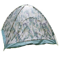 Outdoor 2 Person 4Season Camping Hiking Waterproof Layer Folding Tent Camouflage
