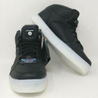 Skechers Light-Up Energy Lights Hi-Top Sneaker - Youth Sizes 5.5Y-7Y, Black