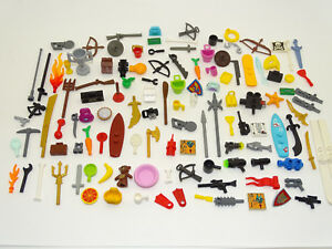 Lego 20pce Minifigure Accessories Pack Random Mix of Hats Tools etc GREAT GIFT!