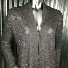 Victoria's Secret Women's Gray Shimmer Long Cardigan Sweater Size Small