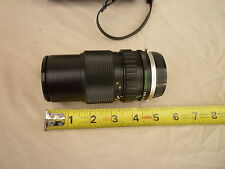 Olympus OM System Auto-Zoom camera lens Zuiko 75-150mm 1:4 + caps and case