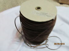 """1/8"""" RAW EDGE LEATHER Trim  Suede single face stitched  Brown Spool 800 yds"""