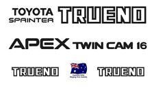 Toyota AE86 Trueno Levin GT APEX Decals Sticker