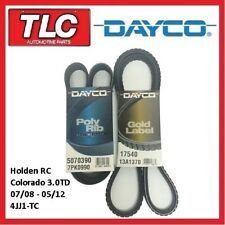 Dayco Fan Belt Kit (2 Belts) RC Colorado 3.0 T Diesel 4JJ1-TC 07/08 - 05/12