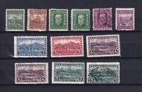 CZECHOSLOVAKIA 1926, Sc#114-122, CV $28, MH/Used