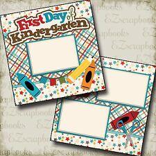 First Day Kindergarten - 2 Premade Scrapbook Pages - EZ Layout 2215