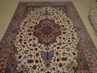 """Wool-Silk, Base pure Silk Hand Knotted Very Fine, and Rare  80 RAJ 6' 8"""" X 10'"""