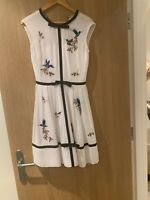 Ted Baker Iina Embroidered Highgrove Dress, White Size 6/ Ted Size 0 RRP £200