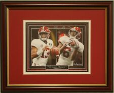 Alabama football 2017 National Championship framed print Tua & Smitty TD pass