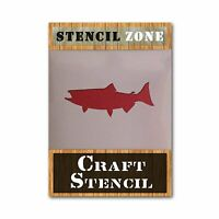 Salmon Fish Shape Mylar AIRRUSH Painting Wall Art Stencil