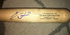Travis Demeritte Autographed Signed Auto Actual Game Used Bat COA Global Braves