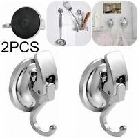 2X Saugnapf Hakenleiste Haken Badezimmer Küche Bad WC Wandhaken Vakuum Saughaken