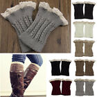 Fashion Women Crochet Knitted Lace Trim Leg Warmers Cuffs Toppers Boot Socks