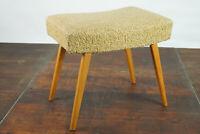 50er Vintage Hocker Retro Fußhocker Rockabilly Pouf Sitzhocker Mid-Century Holz