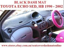 DASH MAT, BLACK DASHMAT,DASHBOARD COVER FIT TOYOTA ECHO 1999-2002, BLACK